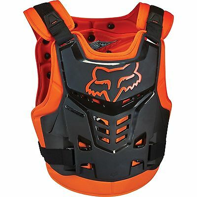 Fox Racing Black Orange Youth Proframe Lc Chest Protector Age 6-11 Boys Kids