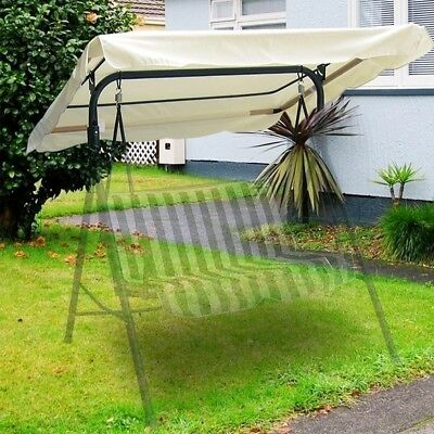 "66""x45"" Outdoor Garden Swing Canopy Cover Replacement  Patio Porch Park Seat Top"
