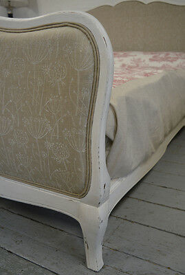 French 5' King size Louis XV style Vintage Retro Upholstered Bedstead