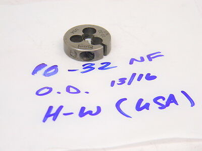 "10-32 Round Adjustable Split Threading Die 13//16/"" OD Toolmex #5-805-015"