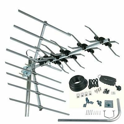 SLx 32DW 32 Element Digital TV Aerial Installation Kit - Coax, Amplifier, Aerial