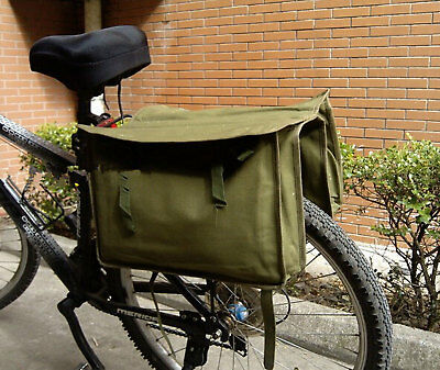 Surplus Chinese Military Bag Canvas Pack Bicycle Carrying Bag-D1054