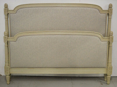 French King size Louis XVI style upholstered Bedstead