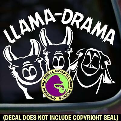 LLAMA DRAMA Vinyl Decal Sticker Llamas Pack Love Wall Sign Car Window Trailer
