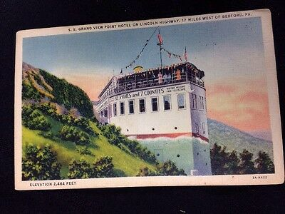 S.S. Grand View Point Hotel on Lincoln Highway, Bedford, Pennsylvania, 1933