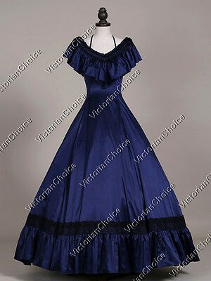 Victorian Southern Belle Winter Holiday Masquerade Ball Gown Dress Theater 127