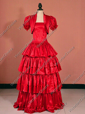 Southern Belle Victorian Prom Gown Dress Women Theater Reenactment Costume 193