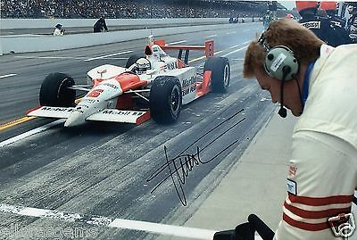 "Indy Car Driver Gil de Ferran Hand Signed Photo Autograph 12x8"" AH"