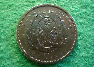 1837 Lower Canada 2 Sous (Penny) - City Bank - Free U S Shipping