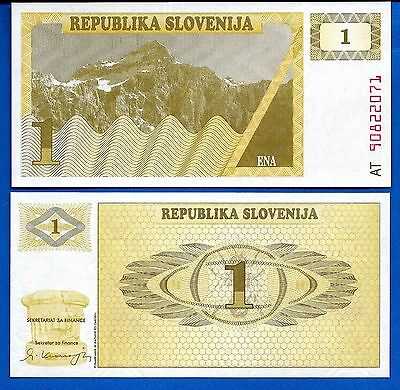 Slovenia P-1 One Tolar 1990 Uncirculated Banknote