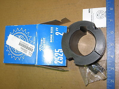 "Martin 2525-2 Taper Lock Bushing  New in Box-  2"" Bore"