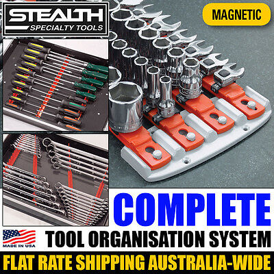 STEALTH Complete Socket System and Magnetic Combo Pack Tool Organisation Wrench