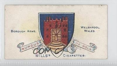 1905 Wills Borough Arms 4th Series Tobacco Welshpool #180 0k5