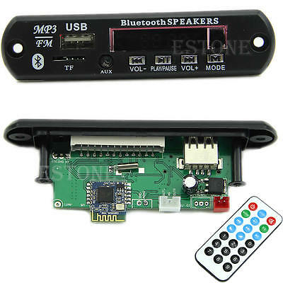 Car Wireless Bluetooth 12V MP3 WMA Decoder Board Audio Module TF USB Radio New