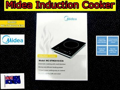 Midea Portable Induction Cooker Cooktop Hot Plate Stove Electric 2000W (NEW)