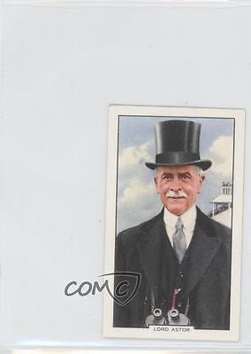 1938 Gallaher Racing Scenes Tobacco Base #20 Lord Astor MiscSports Card 0v9