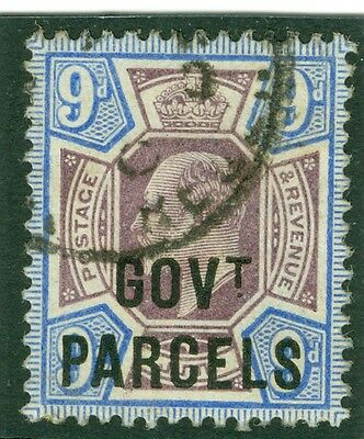SG 077 9d Govt Parcels Very fine used CDS CAT £160
