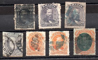 Brazil 1866-1878 Early Pedro used collection to 1000R WS797