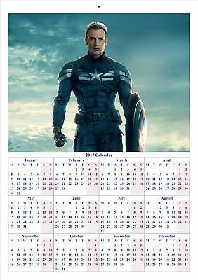 Captain America The Winter Soldier - 2017 A4 CALENDAR BUY ANY 1 AND GET 1 FREE