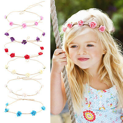 Toddler Kids Baby Rose Headband Flower Girl Hair Accessories Band Headwear