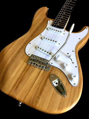 New 6 String Vintage White Solid Body T-Style Electric Guitar Rose Fretboard