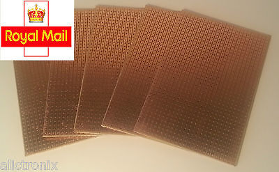 Strip Board Printed Circuit PCB Prototyping (2 sizes), (Packs of 1,2,5).