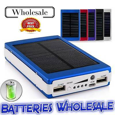 5x50000mAh BLUE Solar Battery Charger Power Bank For Smart Phones UK Wholesale