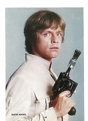 MARK HAMIL Star Wars gunslinger magazine PHOTO/Poster/clipping 10x7 inches