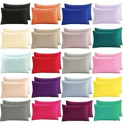 Nimsay Home Plain Dyed Pair of Housewife Cotton Blend Pillowcases Pillow Cases
