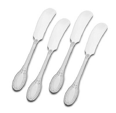 SET OF FOUR - Wallace Stainless HOTEL Butter Spreaders NEW