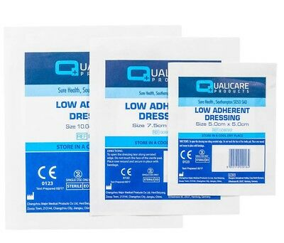 5cm x 5cm - Low Adherant Dressings - First Aid Cuts & Wound Dressings *FREE P&P*