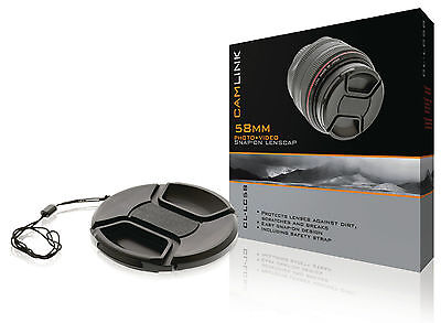 Camlink 58mm Snap-On Lens Cap
