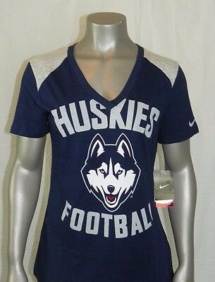 887d1e443 UCONN HUSKIES NIKE Women's Stadium Football V-Neck T-Shirt New ...