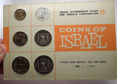 1966 ISRAEL Proof-Like Issues Tel Aviv Mint 6 COINs Set Collection NICE! i56988