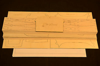 1/4.4 Scale PITTS SPECIAL Laser Cut Short Kit, Plans & instruction  52 in.WS