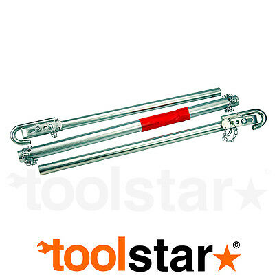 Tow Pole 1.8M 1800Kg Metal With Carry Bag - Car Van Breakdown Towing Pull Push