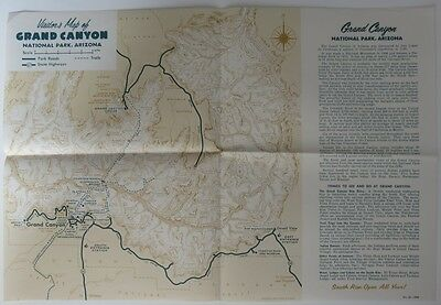 1958 Grand Canyon Visitor's Map                   (Inv10913)