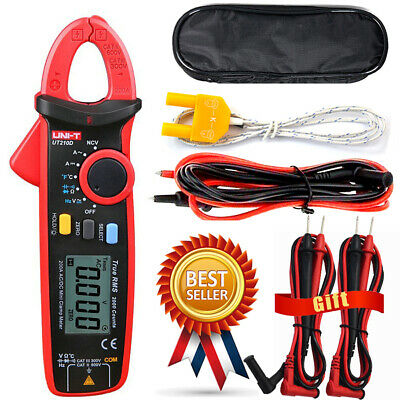 H● UNI-T UT210D Digital Clamp Meter AC/DC Current Voltage Multimeter Temp Tester