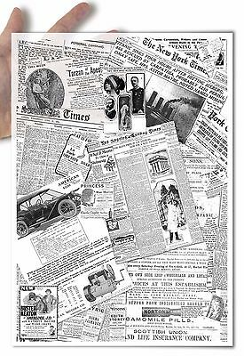 Decoupage Paper soft Old newspaper clippings collage vintage nostalgia black