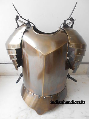 Roman Muscle Breast Plate-Medieval ArmoR BRASS finish SPARTAN Armor suit G5A6S15