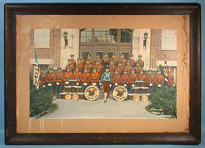 1930 Hagerstown MD Moose Lodge 212 Hand Colored Marching Band Photo Fraternal