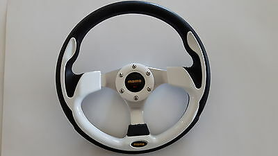 White Steering Wheel Combo Golf Cart Club Car, Yamaha and EZ-GO