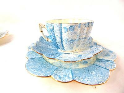 ANTIQUE SHELLEY WILEMAN CHINA TRIO CUP SAUCER PLATE JUNGLE PRINT c