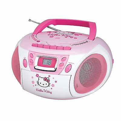 STEREO HELLO KITTY CD PLAYER BOOMBOX w/ CASSETTE RECORDER KT2028A NEW