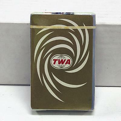 New & Sealed Vintage mid-60s TWA playing cards by Brown & Bigelow. In Cellophane