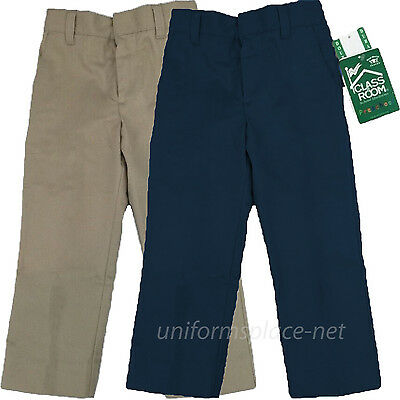 Classroom School Unisex Boys Girls Double Knee Pants Pre School Uniforms Pants