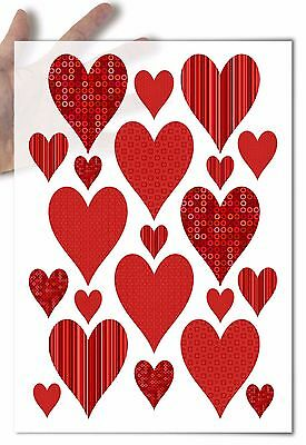 Decoupage Paper soft big red heart hearts Valentine's day love wedding