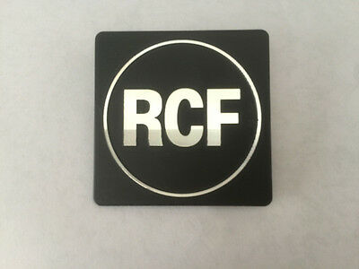 RCF professional stage speaker logo of high-quality speakers nameplate 40mmX40mm
