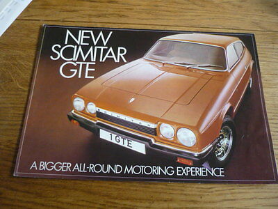 Reliant Scimitar Gte Car Sales Brochure October 1975 For 1976 Model Year