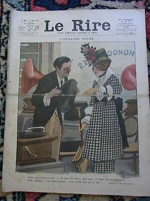LE RIRE N°20 17 mai 1919 COUV A. GUILLAUME & NOB Old french lampoon paper